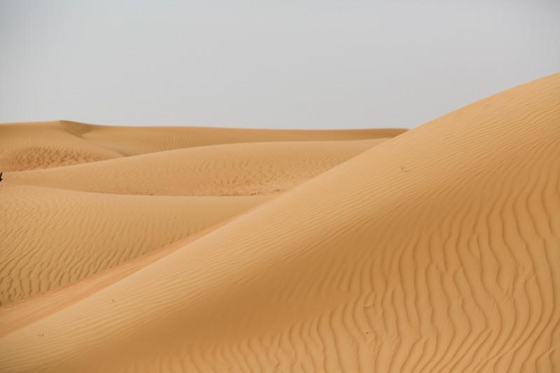 A sand dune outside of Dubai